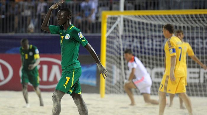 ЧМ-2013 по пляжному футболу. Сенегал – Украина 5:4. Бабакар Фалль - маль да удаль
