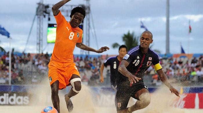 ЧМ-2013 по пляжному футболу. Пятый игровой день. Иран и Япония составляют компанию России и Бразилии