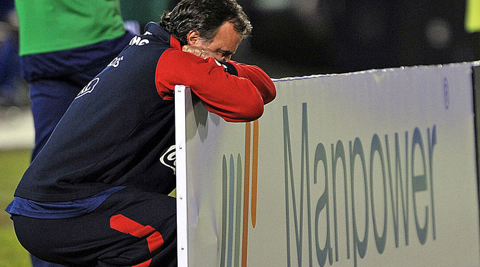Тренер оконфузился прямо во время матча (Видео)