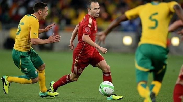 Контрольный матч. ЮАР - Испания 1:0. Паркер остановил Испанию