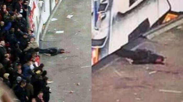 """Полиция опровергла слухи о смерти болельщика """"Аякса"""", упавшего с трибуны"""