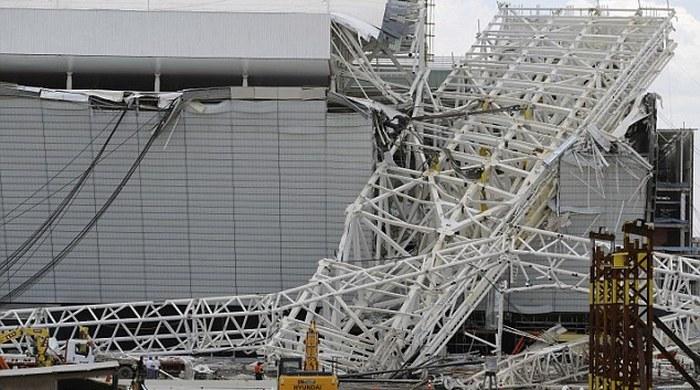 В аварии на стадионе в Бразилии будут разбираться немецкие специалисты (+ фото, видео)