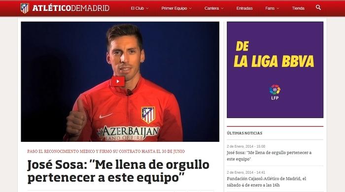 """Официально. Хосе Соса подписал контракт с """"Атлетико"""": """"Я счастлив!"""" (+видео)"""