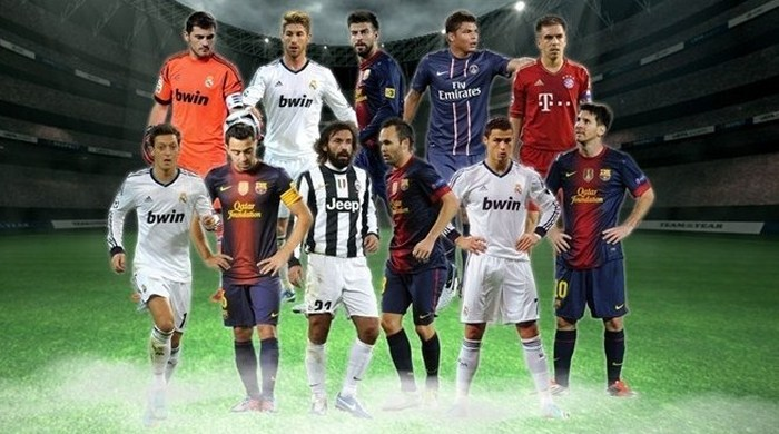 УЕФА обнародовал команду 2012 года по версии болельщиков