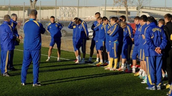 Збірна України провела перше тренування в Іспанії