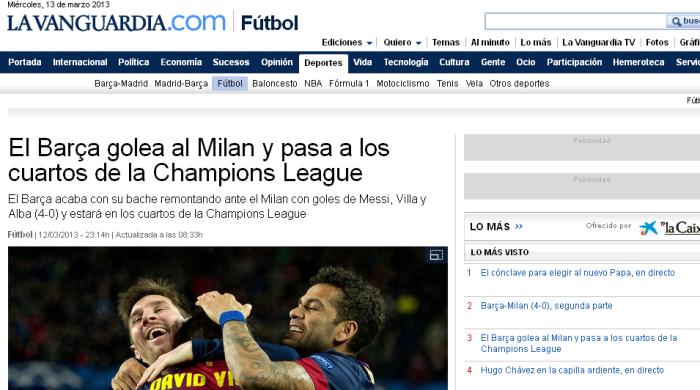 """""""Барселона"""" - """"Милан"""". Обзор испанской и итальянской прессы"""