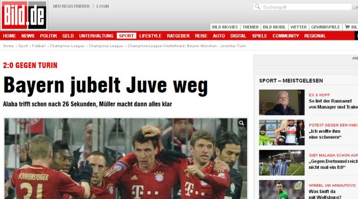 """""""Бавария"""" - """"Ювентус"""". Обзор немецкой и итальянской прессы"""