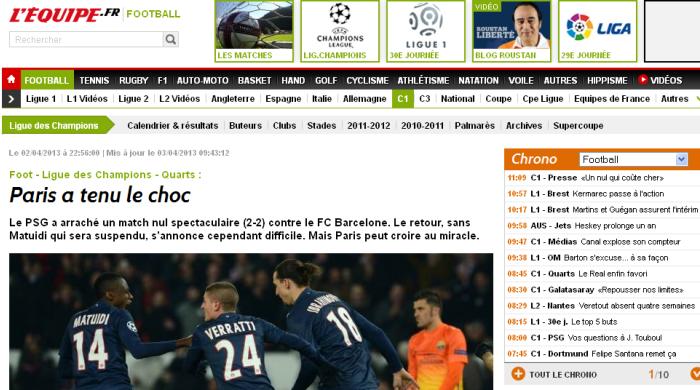 """ПСЖ - """"Барселона"""". Обзор испанской и французской прессы"""
