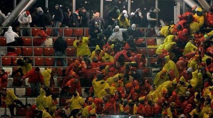 Насилие на польском стадионе, шокировавшее Европу (+ Видео)