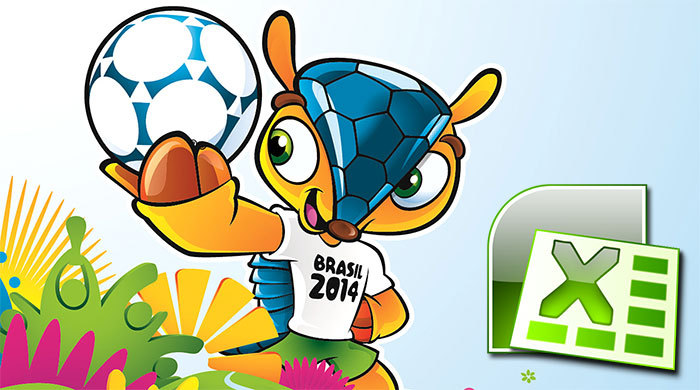 Таблица чемпионата мира 2014 года в формате Microsoft Excel