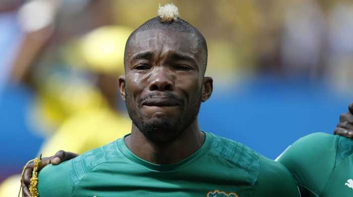 Дье Сере объяснил, почему плакал перед матчем с Колумбией (+фото)