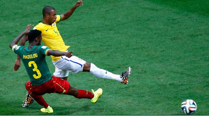 """Камерун - Бразилия 1:4. Потренировались на """"львах"""""""