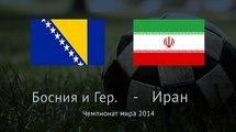 Босния и Герцеговина - Иран 3:1. Видео
