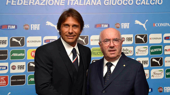 Конте представлен в качестве главного тренера сборной Италии