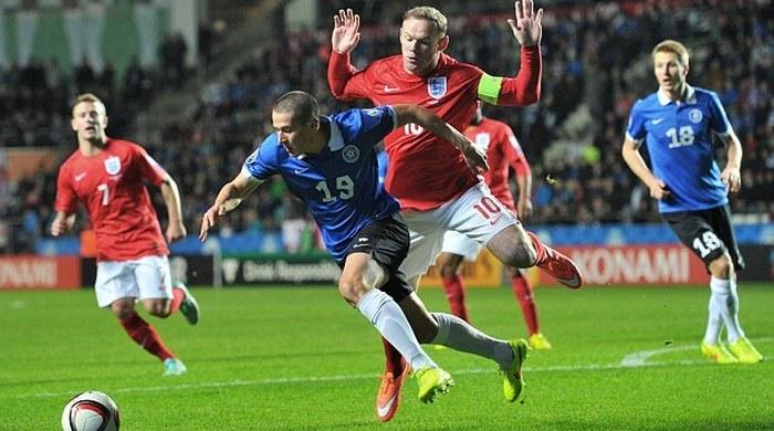 В матче Англии против Эстонии сыграл... эстонский срочник (Фото)