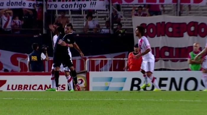 Футбольная подлость по-аргентински (Видео)