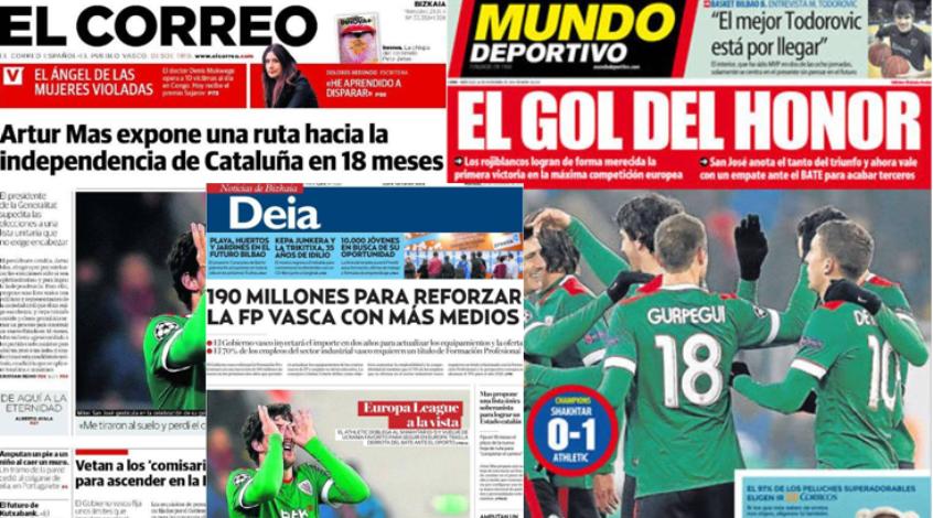 """""""Шахтер"""" - """"Атлетик"""" 0:1. Обзор испанской прессы"""