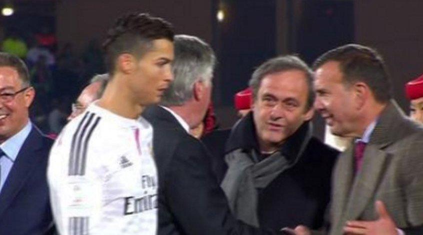 Криштиану Роналду не пожал руку президенту УЕФА (Видео)