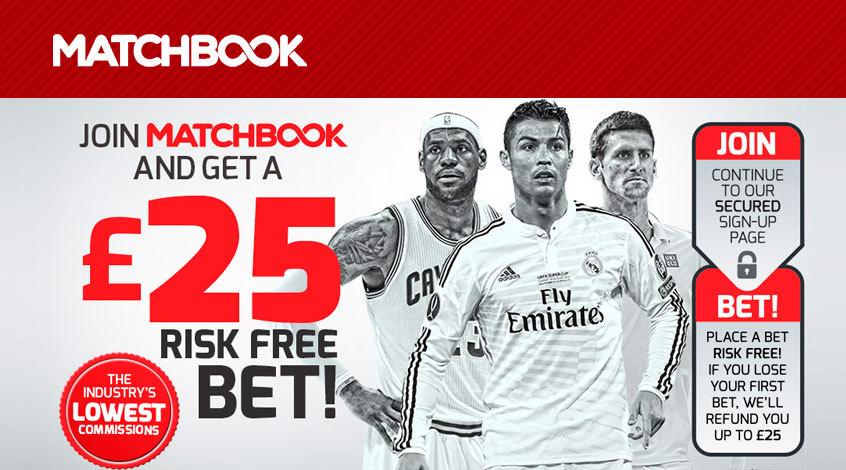 Matchbook возвращает до €25 за проигранную ставку