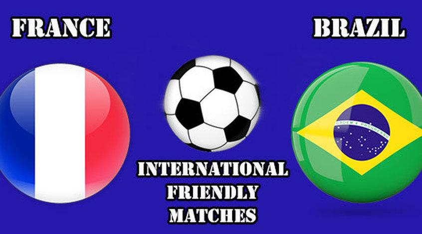 Товарищеский матч. Франция - Бразилия 1:3. Реванш удался (Видео)