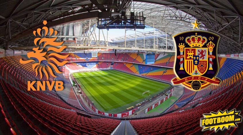 Товарищеский матч. Нидерланды - Испания 2:0. Составы изменились, результат - нет  (Видео)