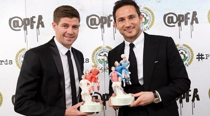 Стивен Джеррард и Фрэнк Лэмпард получили награды за вклад в английский футбол