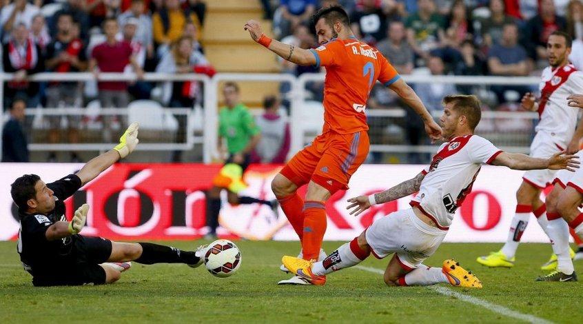 """""""Райо Вальекано"""" - """"Валенсия"""" 1:1. Обмен голами и удалениями"""