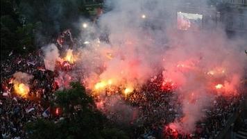 Как в Сербии встречали триумфаторов молодежного чемпионата мира (Фото)