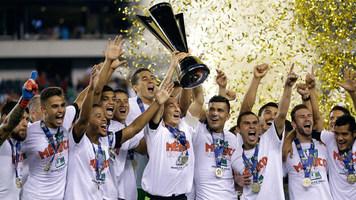 Золотой Кубок КОНКАКАФ-2015. Финал. Ямайка - Мексика 1:3. Десятикратные!