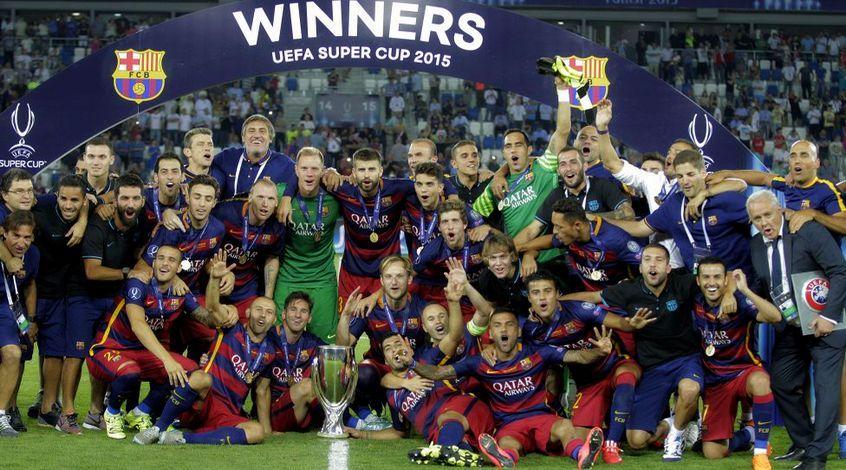 """Суперкубок УЕФА. """"Барселона"""" - """"Севилья"""" 5:4. Фестиваль испанского футбола"""