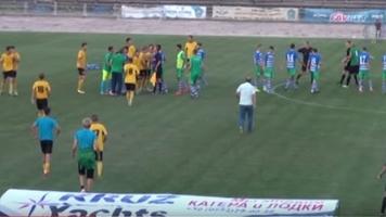 Скандальная драка во второй лиге (+Видео)