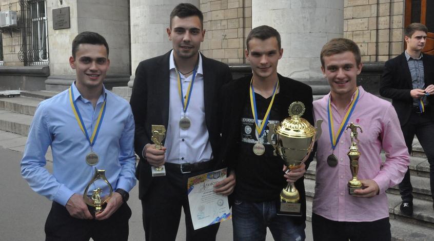 В Киеве чествовали студентов КНЭУ
