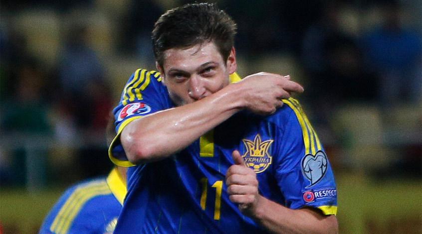 Как встречали Селезнева в расположении сборной Украины (Видео)