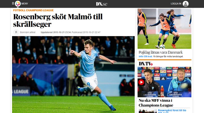"""""""Мальмё"""" - """"Шахтёр"""". Обзор шведской прессы"""