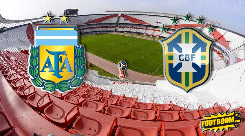 Отбор к ЧМ-2018. Аргентина - Бразилия. Анонс и прогноз матча
