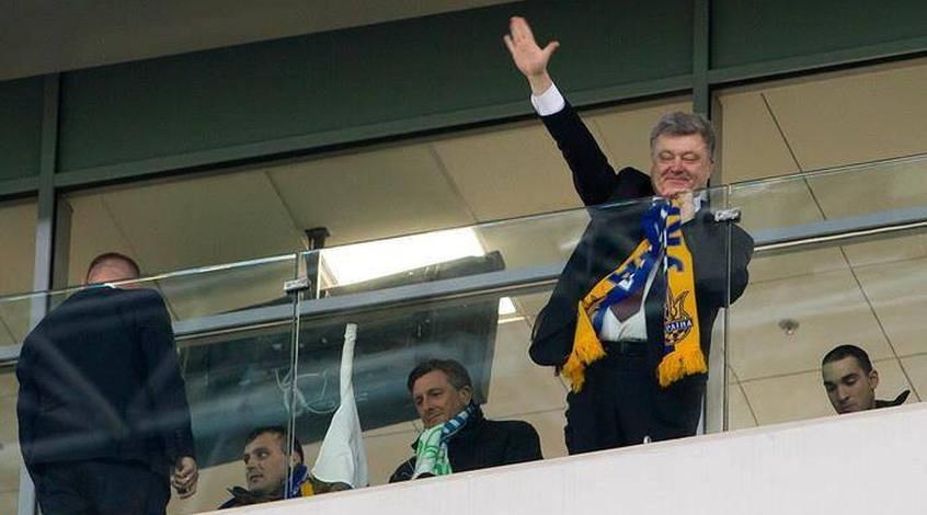 """Президент Порошенко поздравил """"Динамо"""" с выходом в плей-офф Лиги чемпионов (+Фото)"""