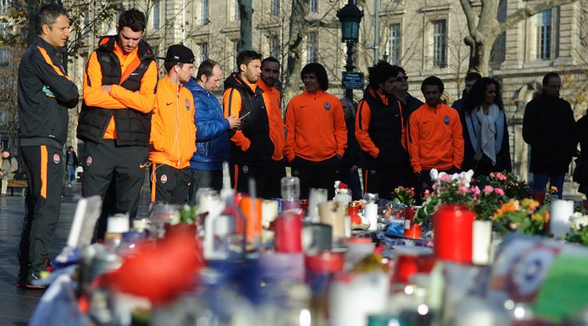 """""""Шахтер"""" почтил память жертв теракта в Париже (+Фото)"""