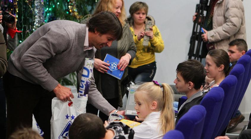 Ребров, Шовковский и Бурда встретились с детьми, пострадавшими от аварии на ЧАЭС