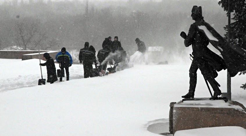 """""""Николаев"""" отменил тренировку из-за снегопада"""