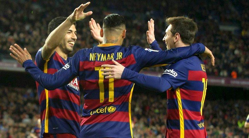 Месси, Неймар и Суарес забили 123 гола за сезон и перебили свой прошлогодний рекорд