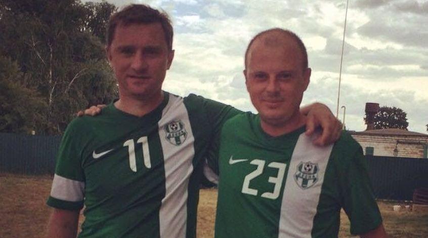 На полі – сільський голова, Віктор Вацко і двоє Воробеїв