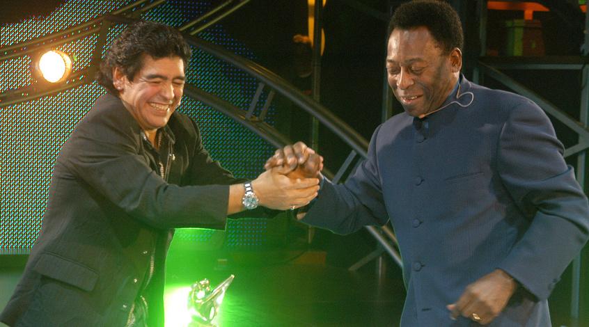 "Марадона написал послание ""королю Пеле"" (Фото)"