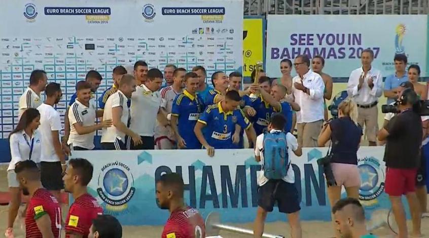 Андрій Павелко привітав чемпіонів Європи з пляжного футболу