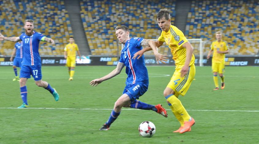 Опрос: оцените действия игроков сборной Украины в матче со сборной Исландии