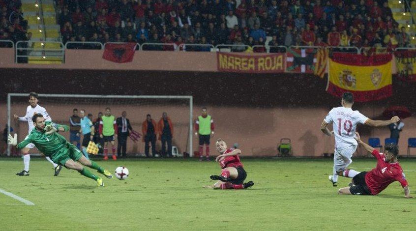 Албания - Испания 0:2. Без напряга