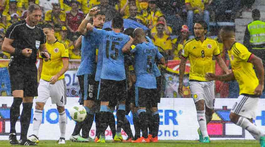 Колумбия - Уругвай 2:2. Качели на болоте