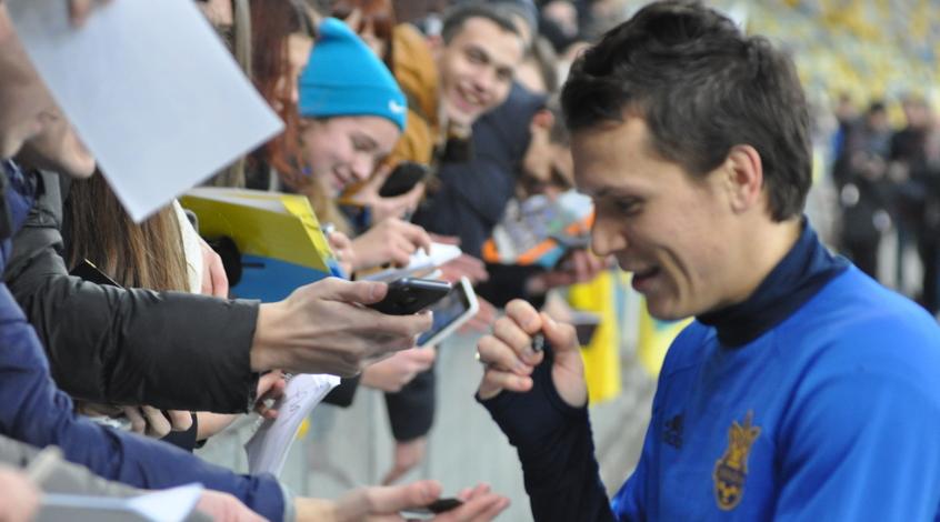 Эмоции игроков сборной Украины после первой тренировки в Австрии (Видео)