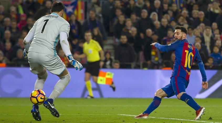 """Атлетико"" - ""Барселона"": коэффициент 2,28 на гол Месси; 2,77 - на гол Гризманна или Луиса Суареса"
