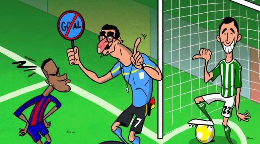 Футбол в карикатурах: икона Моуриньо, судейство Роналду и подарок для Момани (Фото)