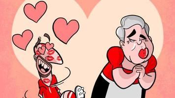 Футбол в карикатурах: любовные признания Анчелотти, встреча Кьеллини с Суаресом и шлепок от БигСэма (Фото)